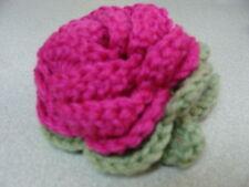 Luggage Bag Identifyer ID Crochet Rose Magenta Sage