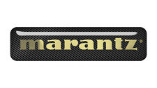 "Marantz 2""x0.5"" Chrome Domed Case Badge / Sticker Logo"