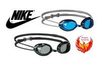 NEW Nike Adult Remora II Swim Sports Goggles Blue and Smoke #93010