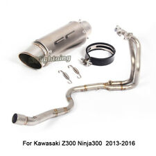 For Kawasaki Ninja300 Z300 Motorcycle Exhaust Connecting Pipe Muffler Tail Pipe