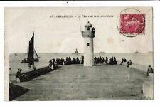 CPA - Cartes Postale-France-Cherbourg- Phare de la Grande Jetée 1934-VM11627