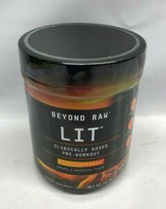 GNC Beyond Raw Lit Pre-Workout Powder Energy Orange Mango 30 Servings EXP. 3/22