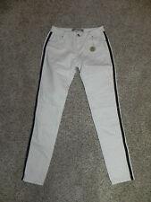 Velvet Heart Jeans Skinny Size 28 Womens White Tuxedo Stripe Inseam 31 NWT