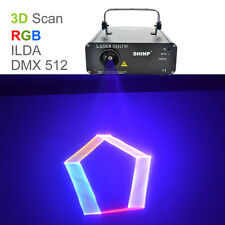 SHINP 3D RGB Animation DMX Laser Projector Lights PRO DJ KTV Home Stage Lighting