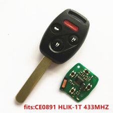 Remote Key for Honda CE0891 HLIK-1T Accord Element Pilot CR-V HR-V Fit Insight