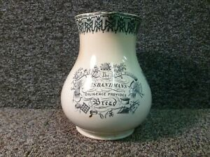 Antique Davenport Jug The Farmers Creed God Speed The Plough