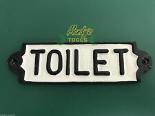 TOILET DOOR SIGN Cast Iron RECTANGULAR Toilet Sign for Work Place Pubs Cafe Home