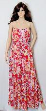 NWT WOMENS SZ 8 NINE WEST $119 FORMAL STRAPLESS SUMMER FLORAL CHIFFON GOWN DRESS