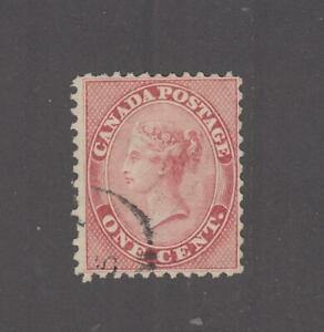 CANADA # 14 VF-LIGHT USED 1cts ROSE CAT VALUE $120 (ROSY)