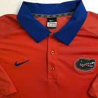 Nike NCAA Florida Gators Softball Polo Shirt Orange Dri-Fit Men 2XL XXL 2X-Large