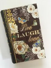 PUNCH STUDIO faux BOOK BOX. LIVE. LAUGH. LOVE. HOUSE WARMING GIFT. BLESSINGS.