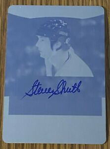 STEVE SHUTT 2017 Leaf In The Game ITG AUTO Plate MONTREAL CANADIENS (#1/1)