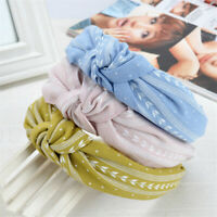 Fashion Women Sweet Bowknot Cross Knot Wide Headband Hairband Hair Accessories
