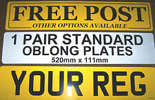 REGISTRATION PLATES 1 PAIR NUMBER PLATES  PROOF OF ENTITLEMENT REQUIRED