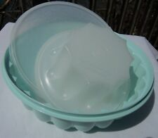 TUPPERWARE VINTAGE PASTEL GREEN 6 CUP JEL-RING JELLO MOLD SET ~1970'S~ GOOD COND