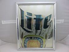 Miller Lite Beer Pilsner Mirror Bar Wall Sign Vintage 1992