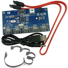 Bundle 1 to 5 SATA 3Gbps 2.0 Port Multiplier riser card + Multi Port Power Cable