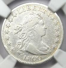 1800 Draped Bust Dime 10C JR-2 - Certified NGC VF Details - Rare Date Coin!
