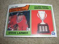 1983-84 OPC #206 Steve Larmer Chicago Black Hawks Calder Trophy NrMt