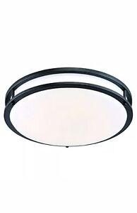 "Designers Fountain EV1414LED-34 14"" Oil Rubbed Bronze/Whit Low-Profile LED Light"
