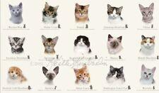 """Elizabeth's Studio Cat Breeds Quilt Fabric 24"""" x 44"""" Panel"""