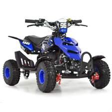 50cc Kids Mini Quad Bike 49cc FunBikes Petrol Quad Pullstart Blue Midi ATV