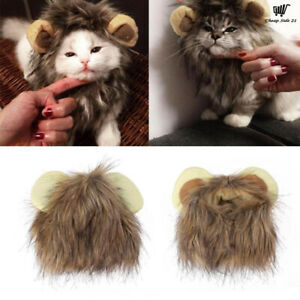 Adjustable Cute Lion Style Dog Cat Hat Scarf Pet Supplie Party Halloween Costume