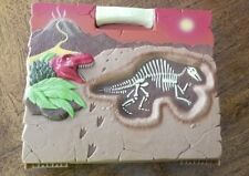 Dinosaur Bone Dig Kit Science Activity w Carrying Case Vintage Excavation STEM