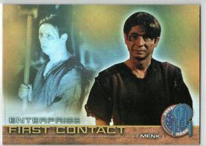 STAR TREK ENTERPRISE SEASON 1 FIRST CONTACT F6 RAINBOW FOIL INSERT TRADING CARD