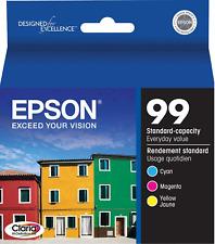 New Genuine Epson 99 3PK Ink Cartridges Artisan 725 Artisan 837 Artisan 800