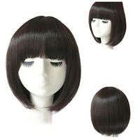 Fashion Short Straight Bob Hair Full Wigs Women Cosplay Party Wig Costume