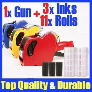 1 x Price Pricing Gun Labeller +11 Rolls Labels +  Inks NG11