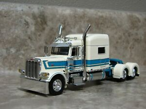 DCP 1/64 Turquoise White Peterbilt Semi Truck Farm Toy