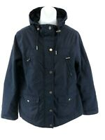 FAT FACE Womens Jacket Coat 10 Blue Polyester & Cotton Hooded