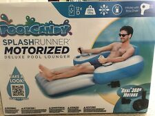 Motorized Inflatable Lounger Pool/Lake Chair Float Lounge w/ motor