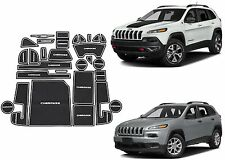 28pc White Interior Mat Set For 2014-2017 Jeep Cherokee New Free Shipping USA