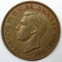 C005-38 # GREAT BRITAIN (UK)   KING GEORGE VI, 1/2 PENNY, 1949, VF