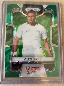 Panini Prizm 2018 World Cup green crystals Alex Iwobi 17/25