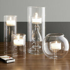 Clear Glass Candle Holder Wedding Decor