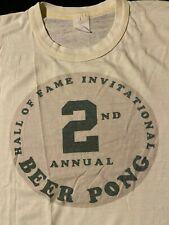 Vintage Hall Of Fame Invitation Beer Pong Tournament T-Shirt Funny Drinking Bar