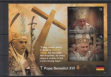 Union island Grenadines St Vincent 2014 neuf sans charnière le pape Benoît XVI 2v s / s ii Papes