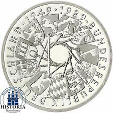 Deutschland 10 DM 40 Jahre BRD 1989 Silber Stempelglanz Münze in Münzkapsel