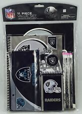 NFL Oakland Raiders 11pc School Stationary Set Team Logo Study Value Kit