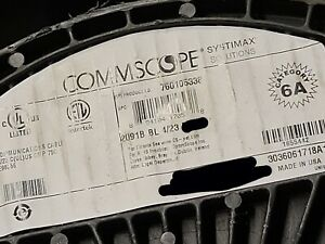 Commscope Systimax GigaSPEED X10D Cat6A U/UTP Plenum Network Cable Blue /100ft