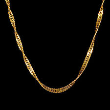 24 Karat Gelbgold - Kette aus 999 Gold Vergoldet- 45cm Lang - Goldkette Damen