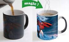 Superman Cartoon Color Changing Magic Heat sensitive Tea Cup Coffee Mug gift USA
