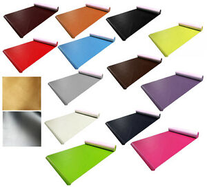 Faux Leather Fabric Leatherette Soft PU Waterproof Material Upholstery 15 Colour