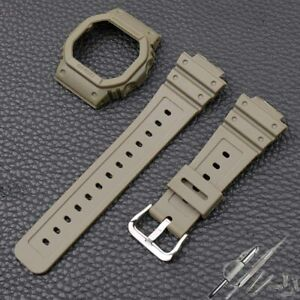 For Casio G-SHOCK DW5600,5700,GW5035,5000 Watch Band Silicone Resin Strap 16mm