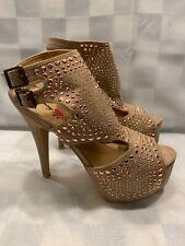 PENNY Loves KENNY Beige Studs High Heels Women's Size 9 M