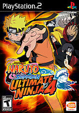 Naruto Shippuden Ultimate Ninja 4 PS2 With Manual. Tested